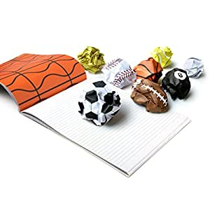 Fred & Friends PLAY MORE Sports Notepad, 48 Sheets