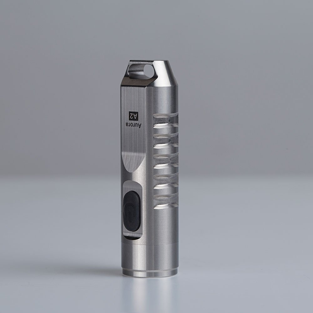 RovyVon Aurora 550 Lumens CREE XP-G3 S5 LED Keychain Rechargeable EDC Flashlight,Stainless Steel Material,45 Minutes Fast Charging,Waterproof IP-65 Small Torch,A2(Silver)