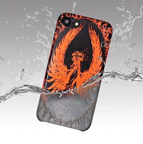 """[CaserBay] Compatible With iPhone 8 Case/iPhone 7 (4.7"""") Phone Case Phoenix Pattern Heat Induction Color Changing Discoloration Thermal Sensor Soft Faux Leather Mobile Cover (Phoenix)"""