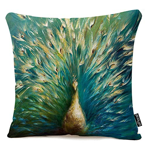 oFloral Cotton Linen Decorative Throw Pillow Case Cushion Cover Oil Painting Looks Pillow case 18