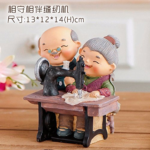 WAWZJ Ornament Home Furnishing Decoration Decoration Marriage Room Layout Crafts Gifts,Sewing Machine