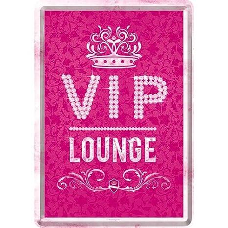 Nostalgic-Art 10265 atención VIP Rosa Lounge, Chapa Post ...
