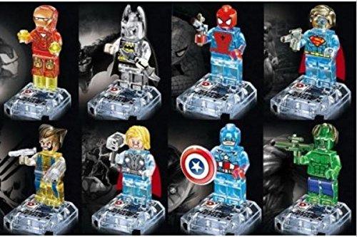 Crystal Marvel Super Hero Avengers Figures Building Blocks Minifigures Bricks Model Toys Compatible with Lego 8Pcs/lot