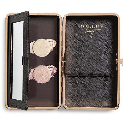 On the Glow Lumie Highlighter Kit - Contains Rose Gold & Lavish Lumie Highlighters W/Black Dollup Customizable Magnetic Palette Clutch Case