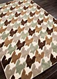 Jaipur Rugs Inc Hand Tufted, Houndstooth Antique White/Antique White, 7.6 by 9.6 Feet