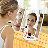 MaByTre Lighted Makeup Mirror Tri-folded Travel
