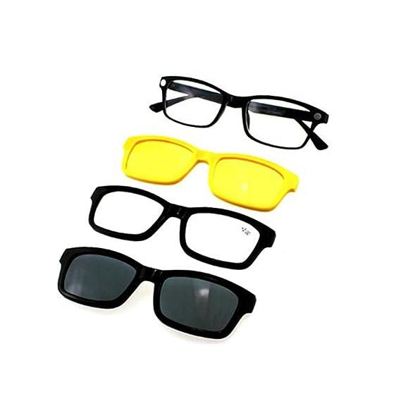 Haodasi 4 in 1 Lentes de lectura Lente óptica polarizada antirreflejante magnética Lente Clip en gafas de sol Gafas ópticas: Amazon.es: Ropa y accesorios