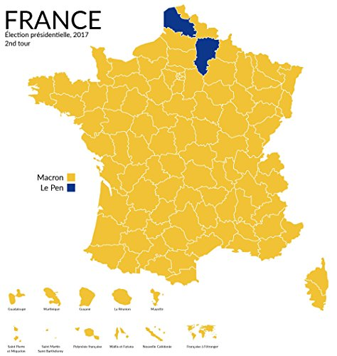 Home Comforts LAMINATED POSTER Map of French Presidential El