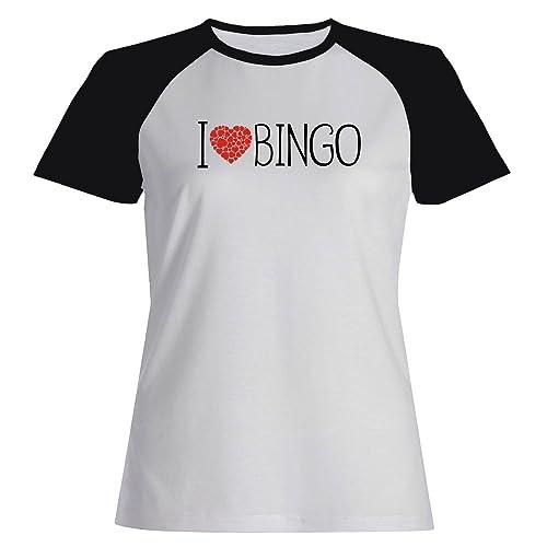 Idakoos I love Bingo cool style - Hobby - Maglietta Raglan Donna