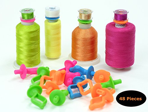 Silicon bobbin holder for thread spools 48 pieces for spool tops fits L M & A Type bobbins for Sewing Quilting & Embroidery Bobbini by ThreadNanny