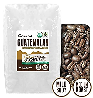 Organic Guatemala Huehuetenango Fair Trade Coffee, Whole Bean coffee, Fresh Roasted Coffee LLC