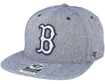 9acfcab1353 47 Brand Boston Red Sox Herring Captain Heather Navy Snapback ...