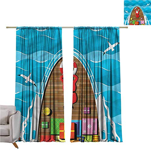 zojihouse Santa Thermal Insulated Blackout Curtains 62
