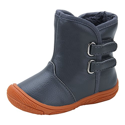 kuner-baby-boys-pu-leather-faux-fleece-rubber-soles-warm-snow-boots-135cm12-18months-gray