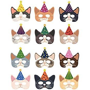 Amazon.com: Vankcp - 12 máscaras de Halloween para gatos ...