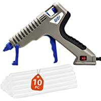 Hot Glue Gun,60W Dual Power High Temp Heavy Duty Melt Glue Gun Kit Patented Base Stand with 10 Pcs Premium Glue Sticks…