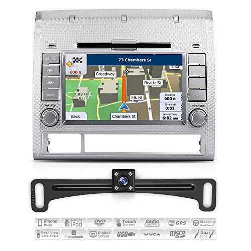 Aimtom 2005 06 07 08 09 10 11 12 Toyota Tacoma In-Dash GPS 7 Inch Touchscreen Bluetooth Navigation with Rear Camera Stereo DVD Radio Player AV Receiver USB Deck Infotainment System w/ Copyrighted Maps (Tacoma Radio Toyota)