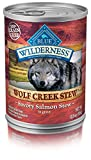 Pack of 12,12.5 OZ, Protein-Rich, Grain Free Wolf Creek Salmon Stew Adult Dog Food