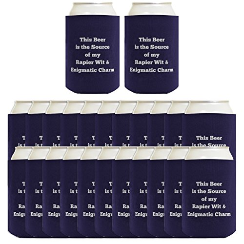 Personalized Coolie Any Text Blue Custom Coolie 24-pack Can Coolie Drink Coolers Custom Coolies Navy - Personalized Drink Coolers
