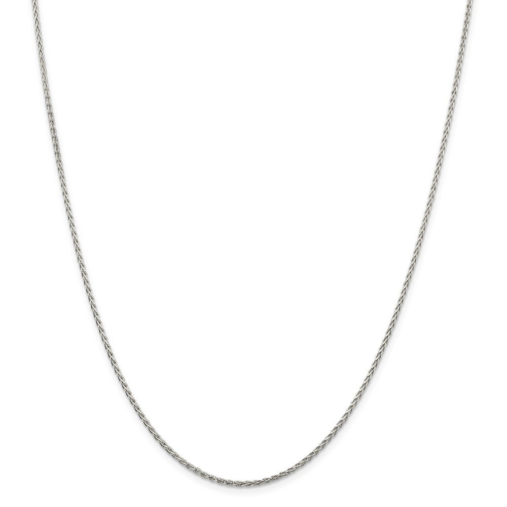 Top 10 Jewelry Gift Sterling Silver 1.5mm Diamond-Cut Spiga Chain