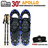 "New MTN Man Woman Kid Youth 30"" Blue Snowshoes +Nordic pole+ Free Bag"