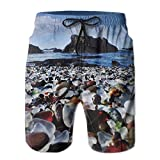 Amazing Glass Beach Men's Summer Casual Swimming Shorts Beach Board Shorts