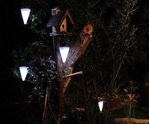 Dewel 4 luci solari per giardino forma conica leuchten led bianco