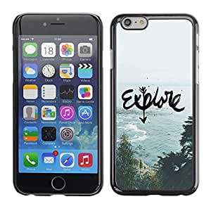 For Apple (4.7 inches!!!) iPhone 6,S-type® Motivational Quote Art Sea - Arte & diseño plástico duro Fundas Cover Cubre Hard Case Cover