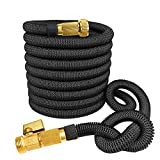 GreenWise ® 100 Feet Strongest Expandable Flexible Garden Hose with Solid Brass Connector
