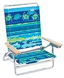 Rio Beach ASC590-807-1 Classic 5 Position Lay Flat Folding Beach Chair, Fish & Turtles