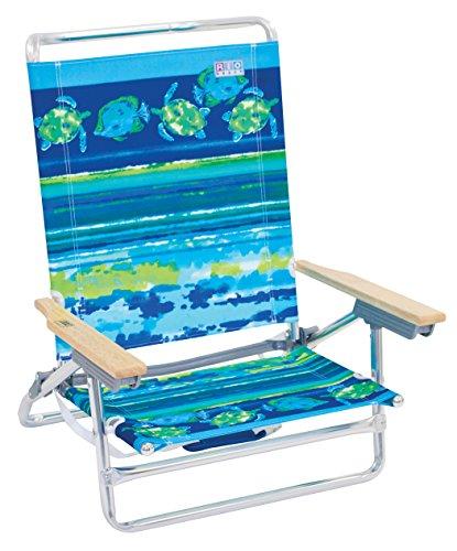 (Rio Beach ASC590-807-1 Classic 5 Position Lay Flat Folding Beach Chair, Fish & Turtles)