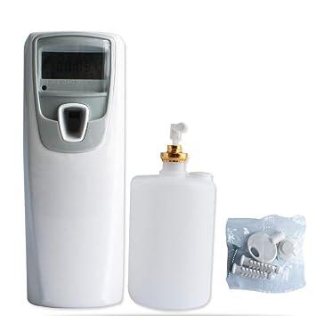 Dispensador automático de perfume con LCD para el hogar, el baño o el coche, con latas vacías: Amazon.es: Hogar