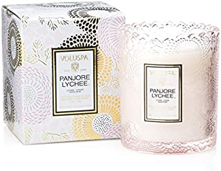 product image for Voluspa Panjore Lychee Scalloped Edge Boxed Glass Candle, 6.2 Ounces