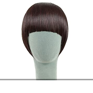 Peluca flequillo patillas/ qi Liu peluca/ peluca flequillo-C