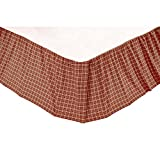 VHC Brands Classic Country Americana Bedding - Independence Red Bed Skirt, Queen