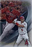 2016 Topps Gold Label Class 1 #13 Albert Pujols Los Angeles Angels Baseball Card in Protective Screwdown Display Case