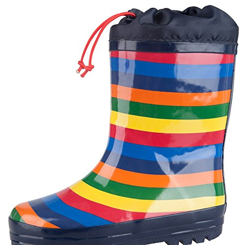 Mountain Warehouse Rainbow Winter Kids Wellies Navy 13 Child
