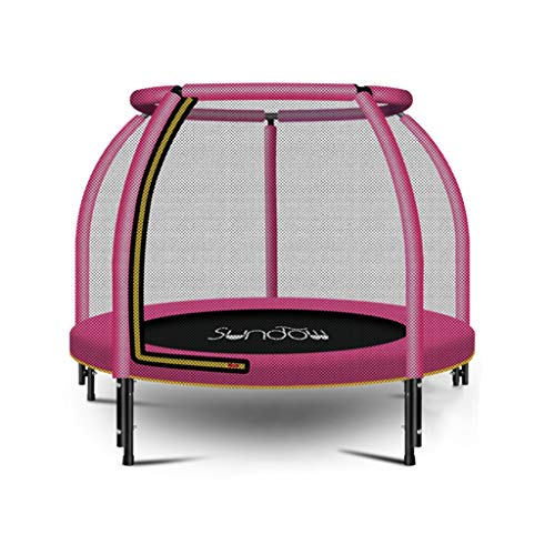 MLMHLMR-Childrens-Trampoline-Pink-Childrens-Protective-Net-Home-Indoor-Baby-Bounce-Bed-Trampoline-Trampoline