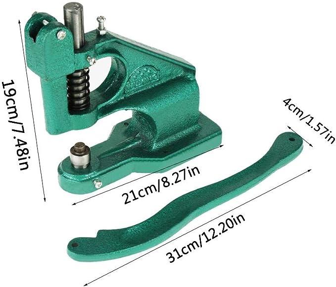 M/áquina de Ajuste de Ojales m/áquina de Ojales de Prensa Manual con 3 Troqueles y 1500 Piezas de Ojales de 6//10//12 mm 1 Pieza