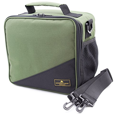 Fireman Lunch (Premium Lunch Cooler Box, Small Insulated Lunch Bag. Water Resistant and Heavy Duty. Perfect For Adults, Men, Women and Teens - Peak and Prosper (Green/Black))