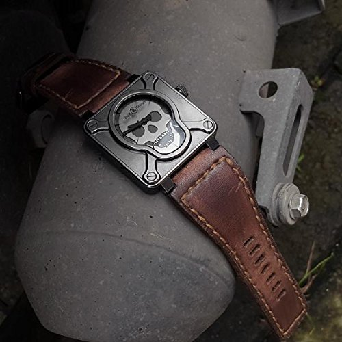 Custom Handmade Premium Calf Leather Watch Band for BR Bell and Ross Gunny Straps - Caitlin 2 by Gunny Store