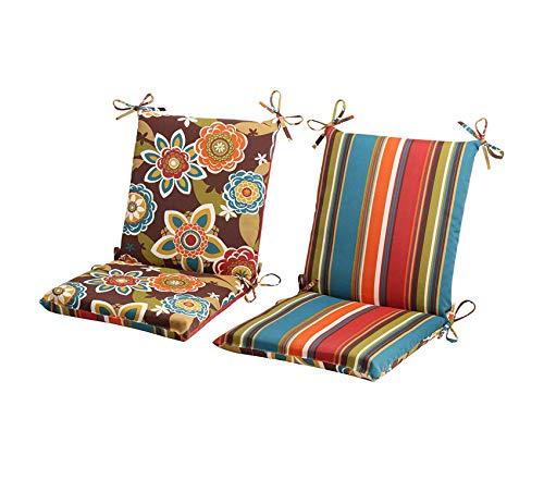 Premium Outdoor Annie Westport Reversible Squared Chair Cushion, Chocolate