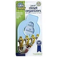 Baby Buddy Organizadores de armarios Size-It - Ropa de bebé Separadores de armarios - Organización de ropa de guardería para bebés y niños de hasta talla 8, azul, 5 unidades