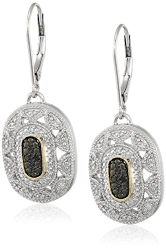 sterling-silver-and-14k-yellow-gold-black-and-white-diamond-art-deco-leverback-earrings