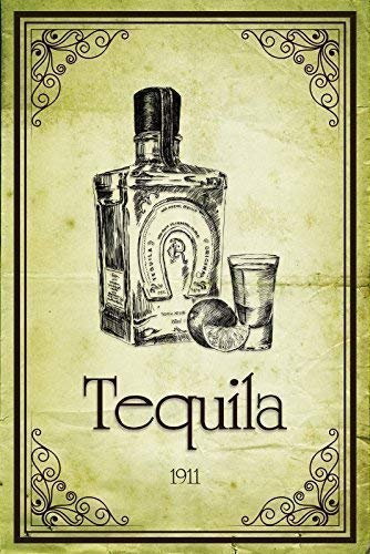 Tequila 1911 Placa de Metal Cartel de Lata 20 X 30CM: Amazon ...