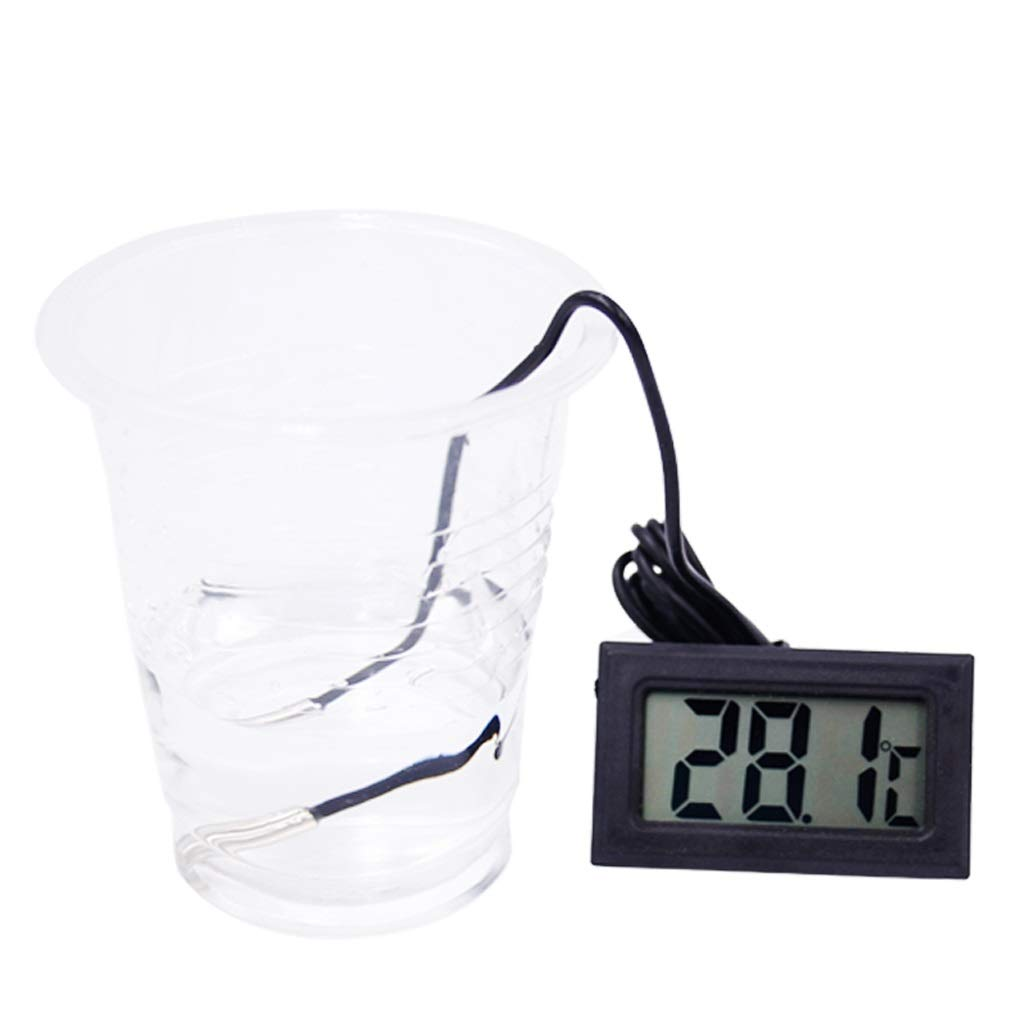 Gr/ö/ße : 1 Meter XUANLAN Digital-Thermometer-Aquarium-K/ühlschrank-Gefrierschrank-Wassertemperaturanzeige mit wasserdichter Sonde