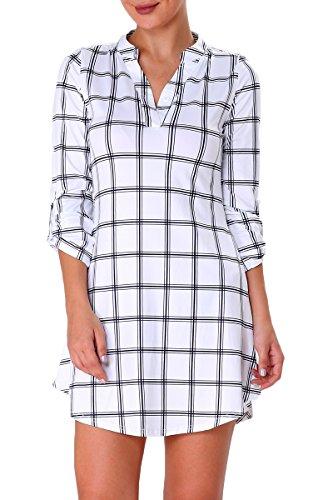 Printed Bubble Sleeve Dress - 2