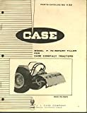 Case Model F-70 Rotary Tiller (for Compact Tractors) Parts Catalog #1132 1969