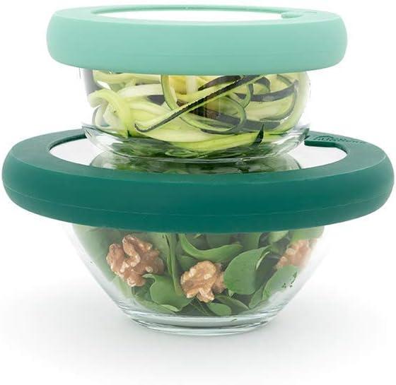 Food Huggers Lids, Set of two, Gradual Green, Small and Medium (S,M)