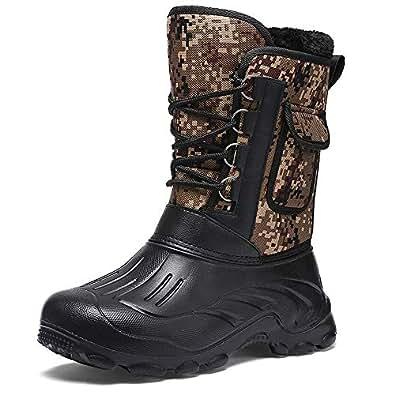 Amazon.com | SITAILE Men's Winter Snow Boots Waterproof